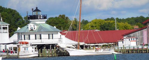 Chesapeake Bay Maritime Museum from the St. Michaels harbor