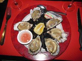 oysters at Vesuvio